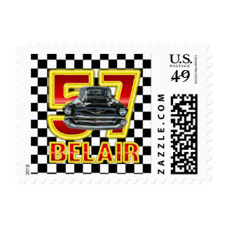 1957 Chevy Belair Postage Stamp.