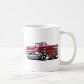 1957 Chevy Belair Red Convertible Hot Rod Mugs