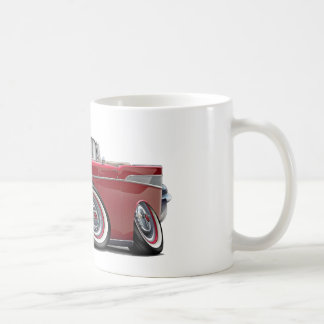 1957 Chevy Belair Red Convertible Coffee Mug
