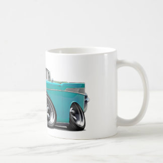 1957 Chevy Belair Turquoise Convertible Hot Rod Coffee Mug