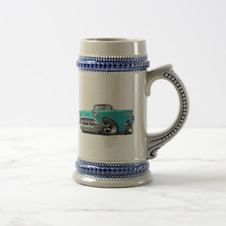 1957 Chevy Belair Turquoise Convertible Hot Rod Coffee Mugs