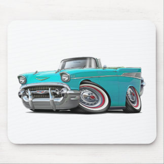 1957 Chevy Belair Turquoise Convertible Mouse Pad