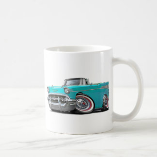 1957 Chevy Belair Turquoise Convertible Coffee Mugs