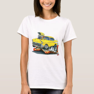 1957 Chevy Belair Yellow Car T-Shirt