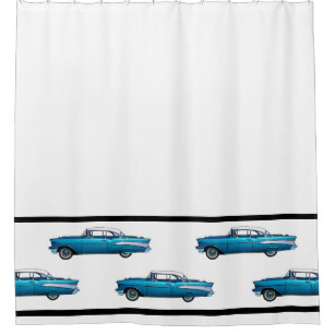 1957 Chevy BelAire Classic Car Shower Curtain