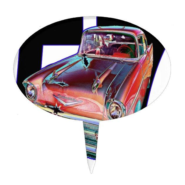1957 Chevy Cake Topper Zazzle Com