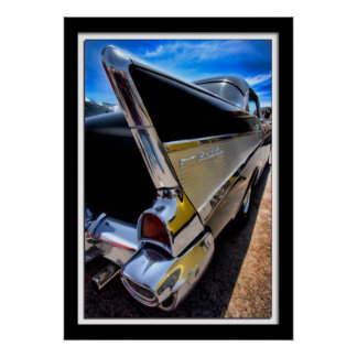 1957 Chevy Fin Poster
