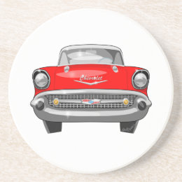 1957 Chevy Front View Drink Coaster