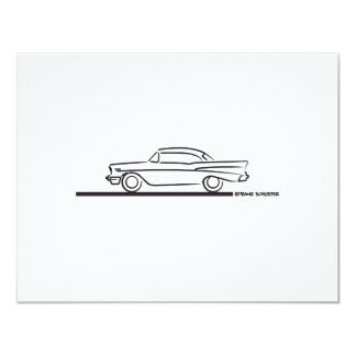 1957 Chevy Hard Top Coupe 4.25x5.5 Paper Invitation Card