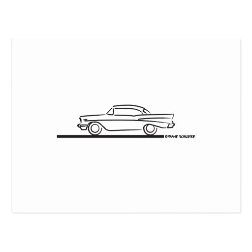 1957 Chevy Hard Top Coupe Postcard