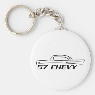 1957 Chevy Hard Top Type Basic Round Button Keychain