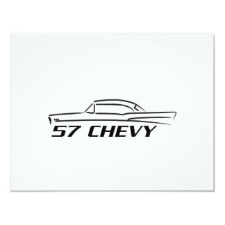 1957 Chevy Hard Top Type 4.25x5.5 Paper Invitation Card