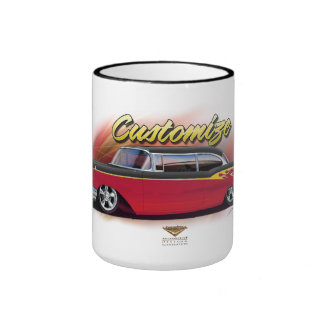 1957 chevy hot rod custom pen coffee mug