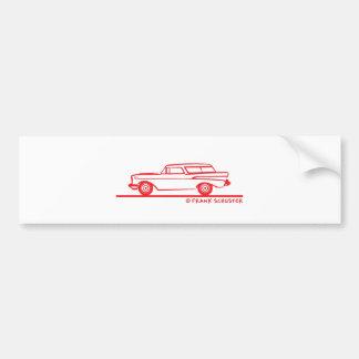 1957 Chevy Nomad Bel Air Bumper Sticker