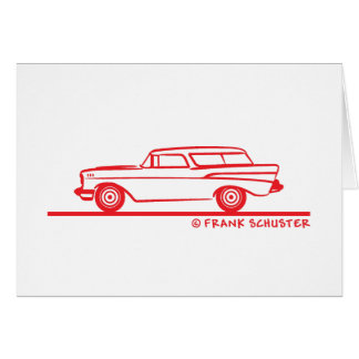 1957 Chevy Nomad Bel Air Card