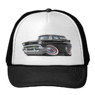 1957 Chevy Nomad Black Car Trucker Hats