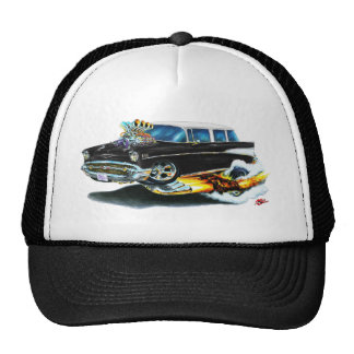 1957 Chevy Nomad Black Car Mesh Hat