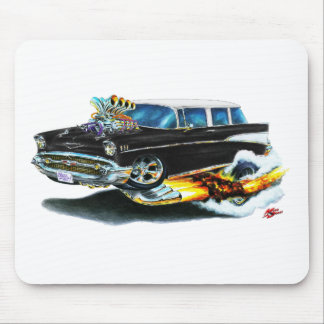 1957 Chevy Nomad Black Car Mouse Pads