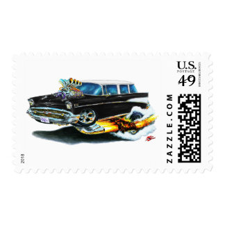 1957 Chevy Nomad Black Car Stamp