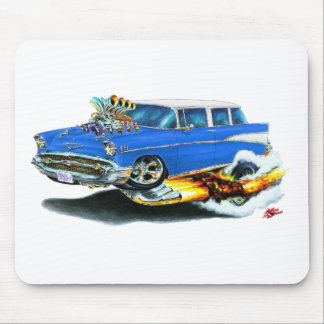 1957 Chevy Nomad Blue Car Mouse Pad