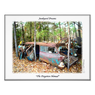 1957 Chevy Nomad Nostalgia Junkyard Art Print Photographic Print