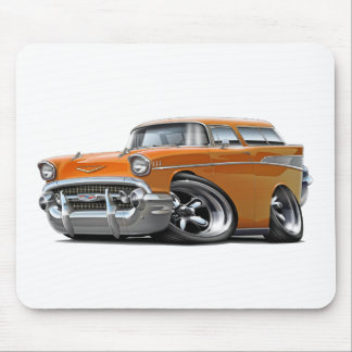 1957 Chevy Nomad Orange Hot Rod Mouse Pad