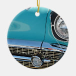 1957 Chevy Nomad Double-Sided Ceramic Round Christmas Ornament