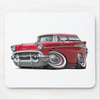 1957 Chevy Nomad Red Car Mousepad