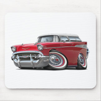 1957 Chevy Nomad Red-White Car Mouse Pad