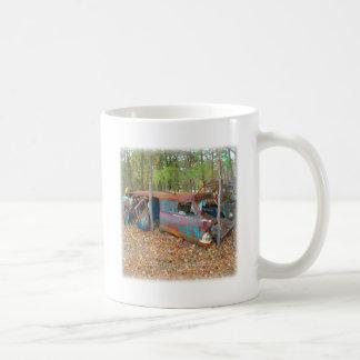 1957 Chevy Nomad Rusting in Wooded Junkyard Coffee Mug
