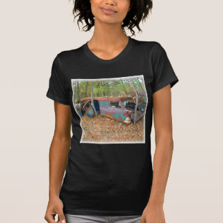1957 Chevy Nomad Rusting in Wooded Junkyard T Shirt