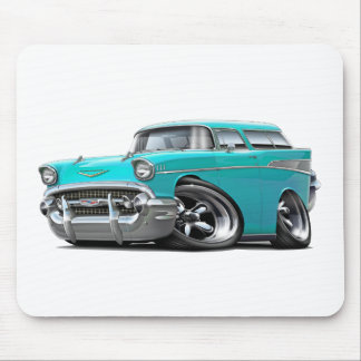 1957 Chevy Nomad Turquoise Hot Rod Mouse Pad