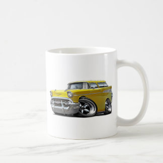 1957 Chevy Nomad Yellow Hot Rod Coffee Mug