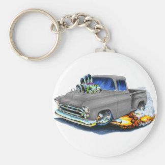 1957 Chevy Pickup Grey Keychains