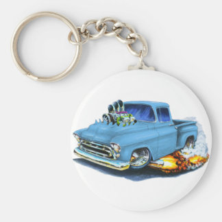 1957 Chevy Pickup Lt Blue Keychain
