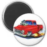 1957 Chevy Pickup Red 2 Inch Round Magnet