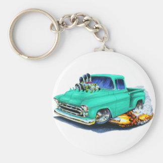 1957 Chevy Pickup Seafoam Green Basic Round Button Keychain