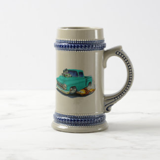 1957 Chevy Pickup Turquoise Coffee Mugs