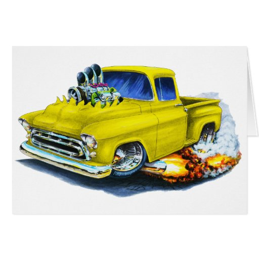 1957 Chevy Pickup Yellow Card