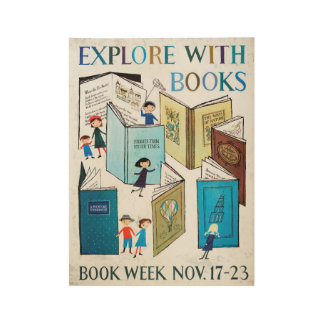 1957 Children's Book Week Wood Poster