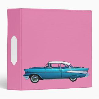 1957 Classic Chevy BelAire White EZ-Turn binder