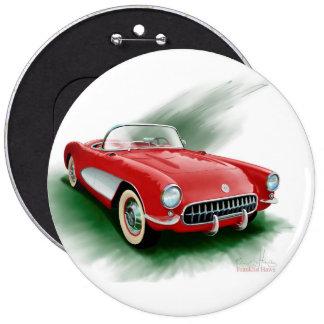 1957 corvette button. pinback button