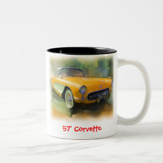 1957 Corvette Two-Tone Coffee Mug