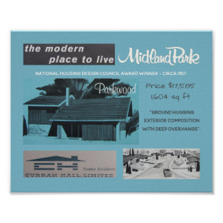 1957 Design Award Winner Mid-Century Modern House Poster