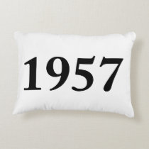 1957 for birthdays, anniversaries, celebrations accent pillow