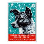1957 Laika the Space Dog Greeting Card