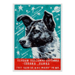 1957 Laika the Space Dog Poster