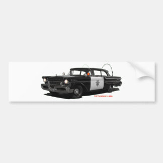 1957-mercury-monterey-highway-patrol-car. bumper sticker