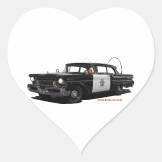 1957-mercury-monterey-highway-patrol-car heart sticker