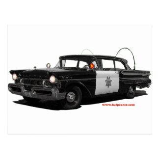 1957-mercury-monterey-highway-patrol-car postcard